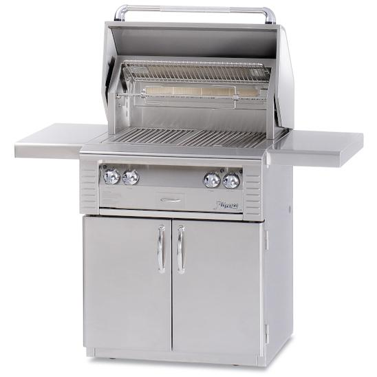 Alfresco LX2 30-Inch Natural Gas Grill On Deluxe Cart With Rotisserie