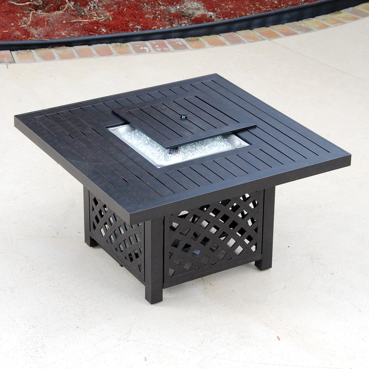 Lakeview Aluminum Fire Pit Table