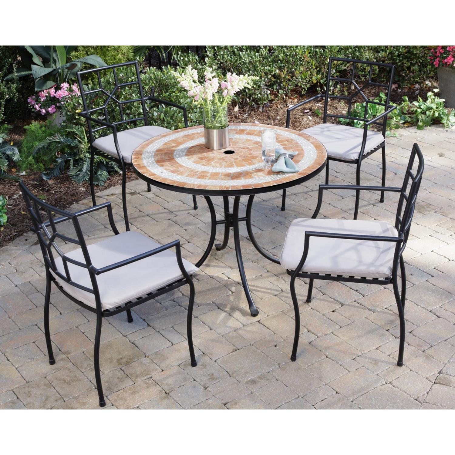 Home Styles Valencia And Cambria Outdoor Patio Dining Set