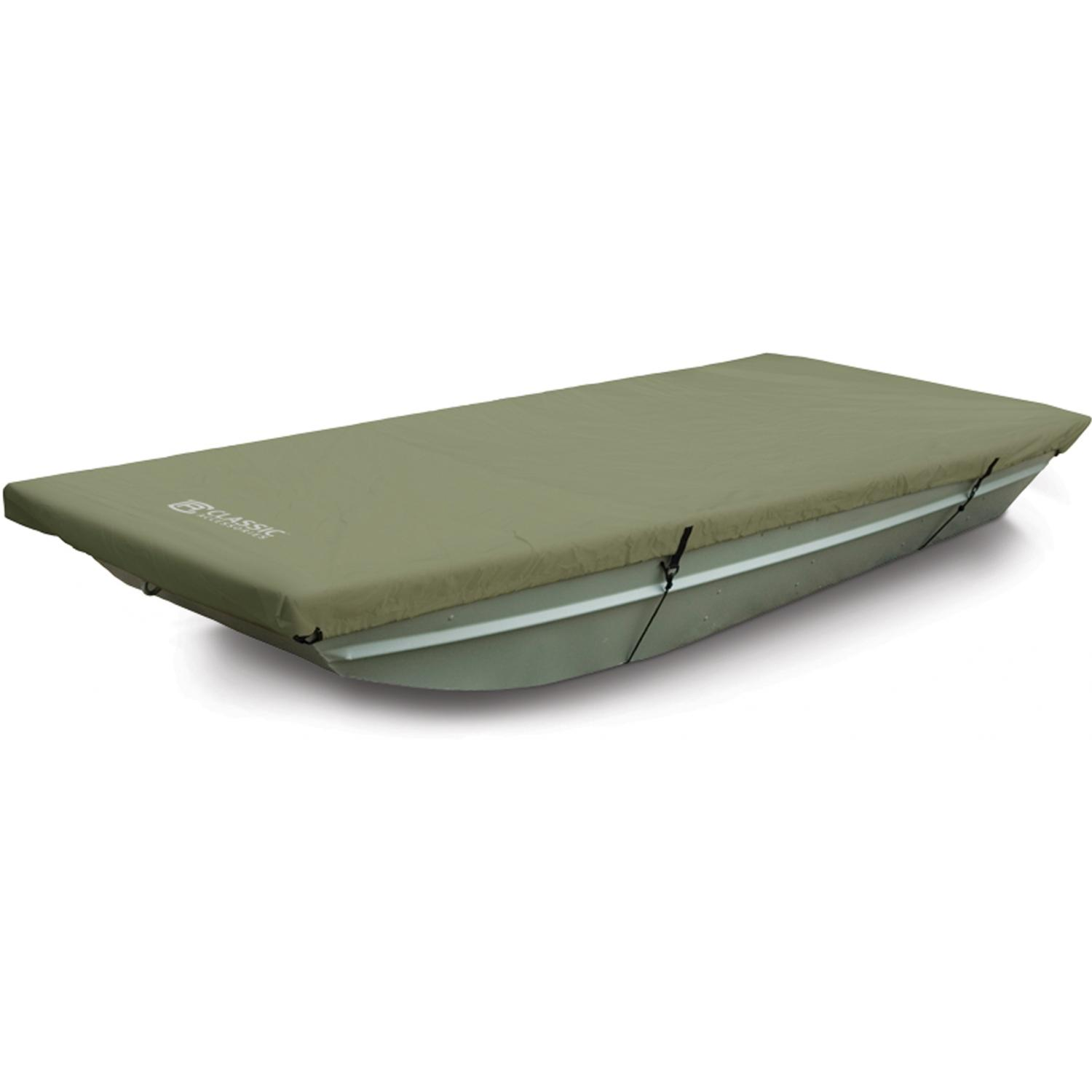 Buy discount boating accessories - Classic Accessories Jon Boat Cover Olive 14 Foot