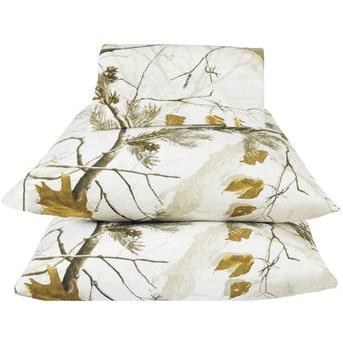 Realtree AP Snow Twin Sheet Set