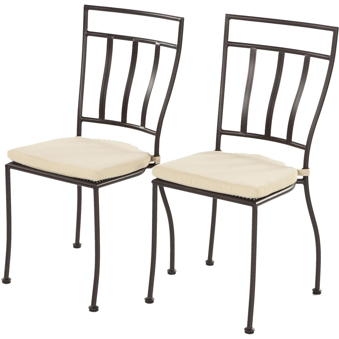 Picture of Alfresco Home Semplice Bistro Chairs With Cushions - Set Of 2