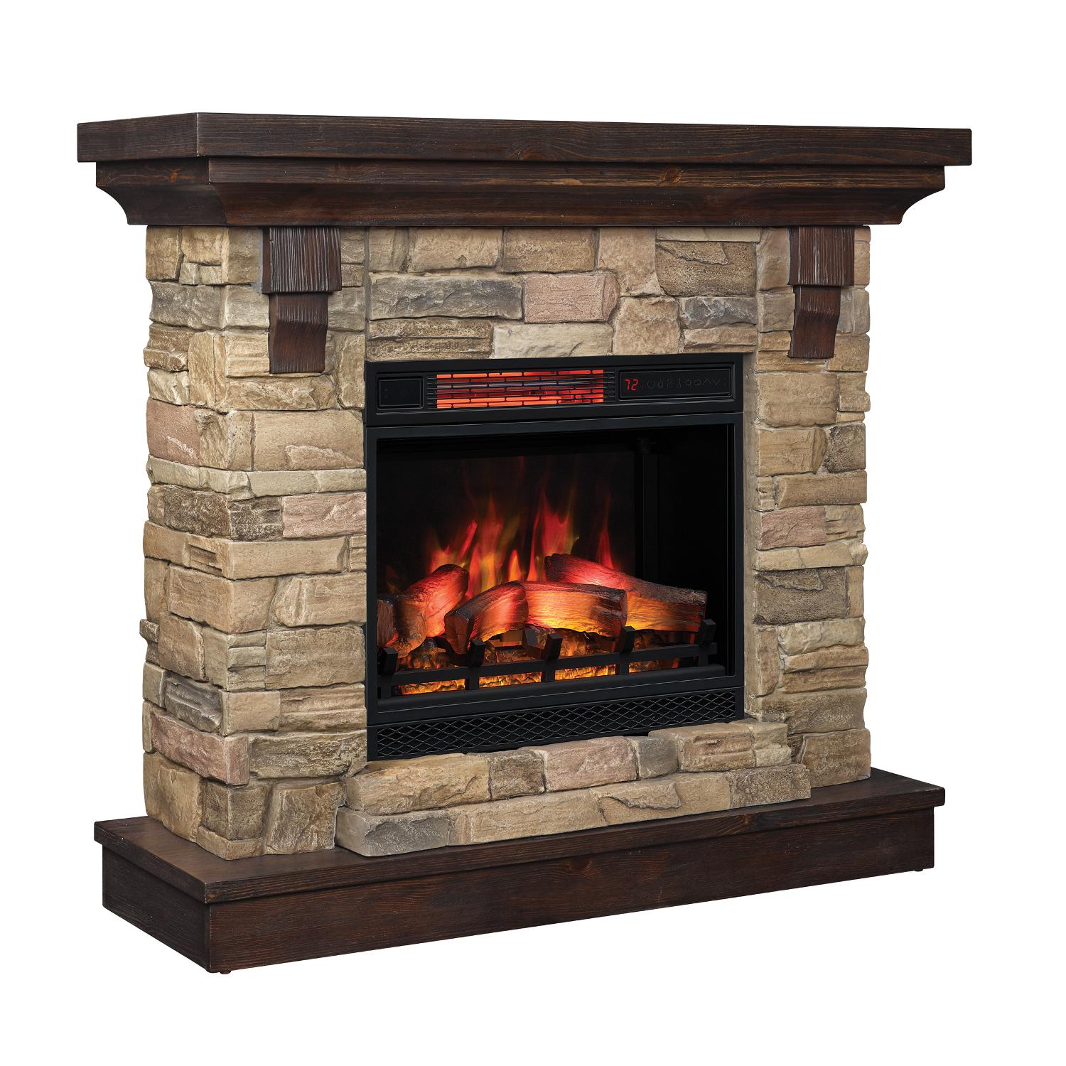 "Classicflame Eugene 45"" Quartz Infrared Electric Fireplace Mantel Package - 97364-iii"