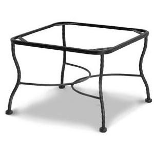 Meadowcraft Wrought Iron Tube Chat Patio Table Base