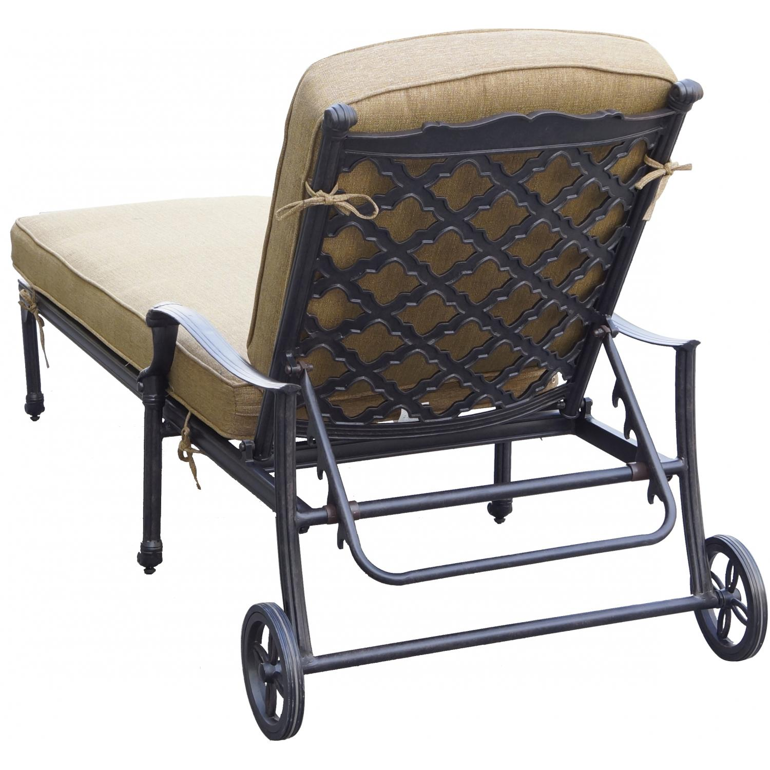 Picture of Darlee Camino Real Cast Aluminum Patio Chaise Lounge - Antique Bronze
