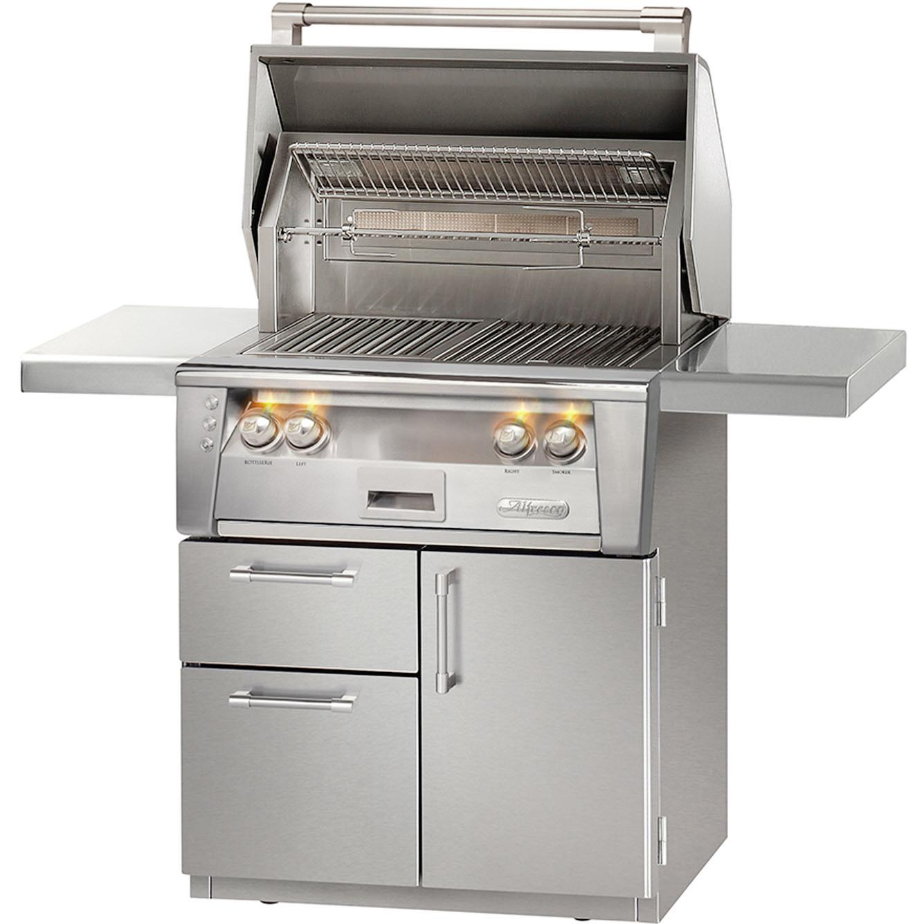Alfresco LXE 30-Inch Propane Gas Grill On Deluxe Cart With Rotisserie - ALXE-30CD-LP 2911834