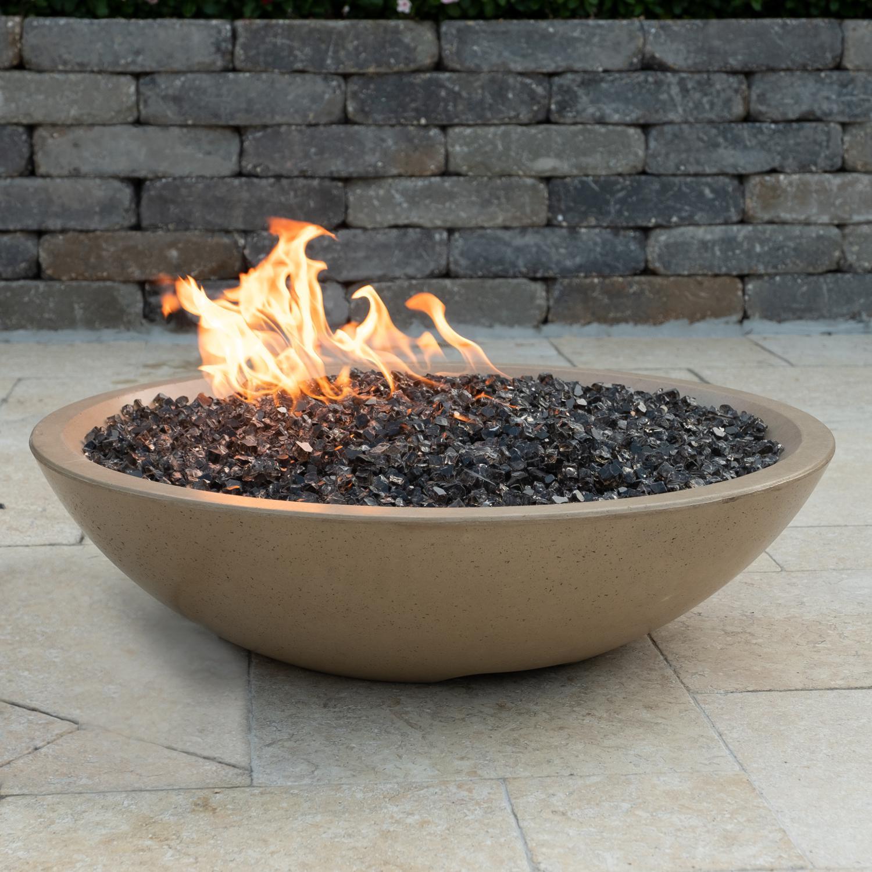 "American Fyre Designs Marseille 32"" Natural Gas Fire Bowl - Cafe Blanco - 753-cb-11-v6nc"