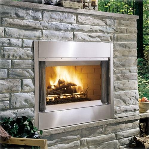 Monessen ODSR36A Al Fresco Series 36-Inch Outdoor Wood Burning Fireplace - Stainless Steel