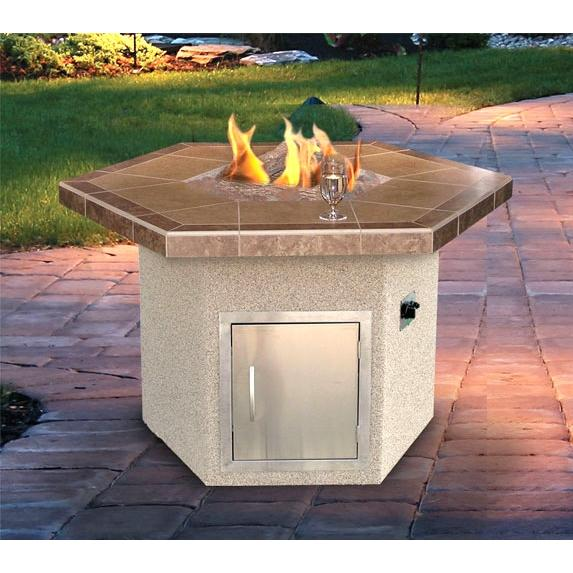 Cal Flame 48 X 35 Inch Outdoor Natural Gas Hexagon Firepit