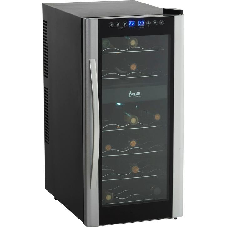 avanti 18 bottle dual zone wine cooler platinum ewc1801dz