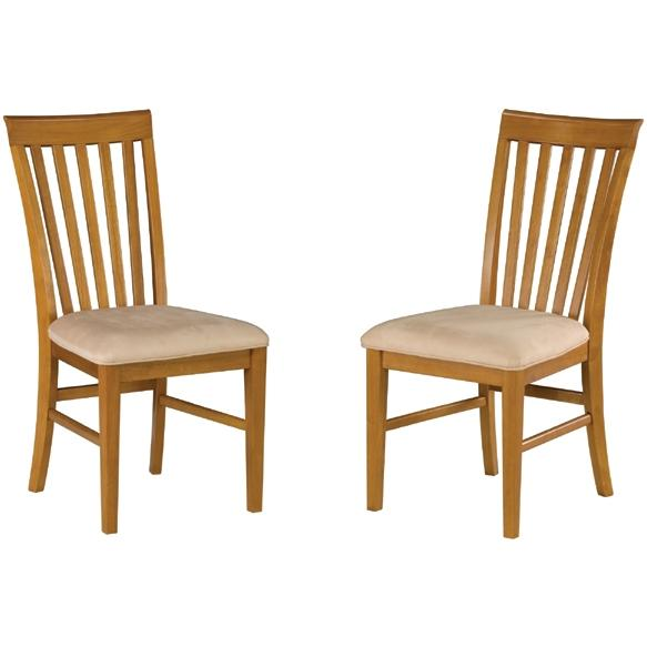 Atlantic Furniture 7001710 Mission Dining Chairs Caramel Latte W/ Cappuccino Cushion (Set Of 2 Chairs)