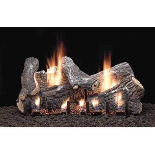 Empire 24 Inch Sassafras Gas Log Set With Vent Free Natural Gas Slope Glaze Burner - Basic On/Off Remote Ready at Sears.com