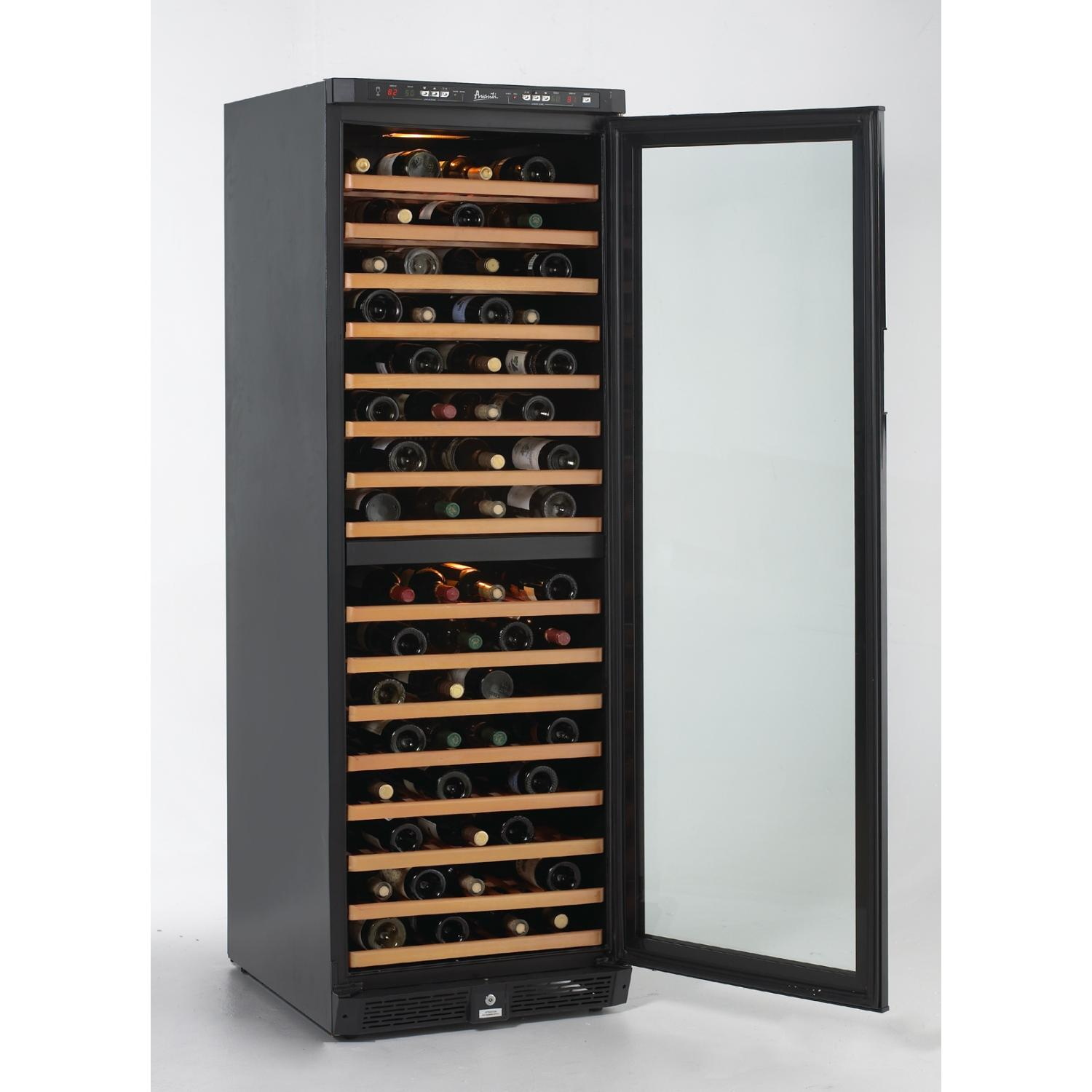 Avanti WCR683DZD2 149 Bottle Freestanding Dual Zone Wine Refrigerator - Glass Door / Black