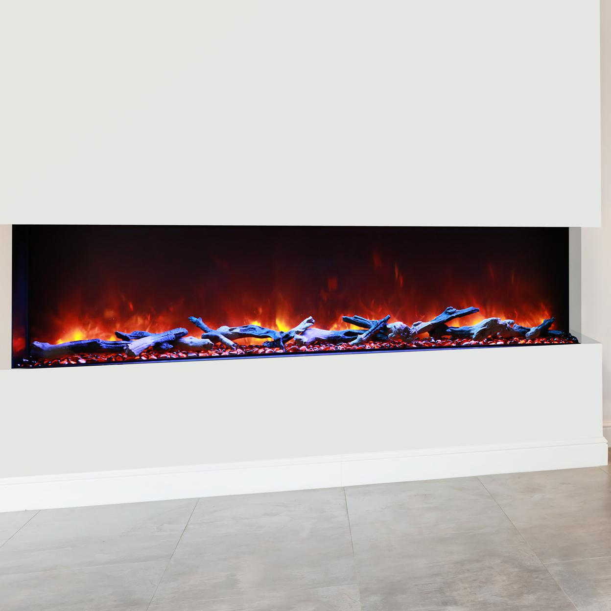 """Amantii Tru View 72"""" Built-in Three Sided Electric Fireplace - Indoor/outdoor - 72-tru-view-xl"""