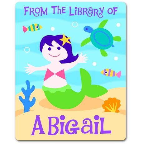 Olive Kids Personalized Book Plate - Mermaids