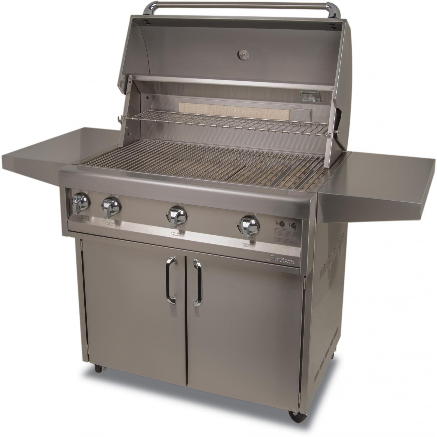 Artisan Classic By Alfresco 36-Inch Propane Gas Grill On Cart With Rotisserie 2872708
