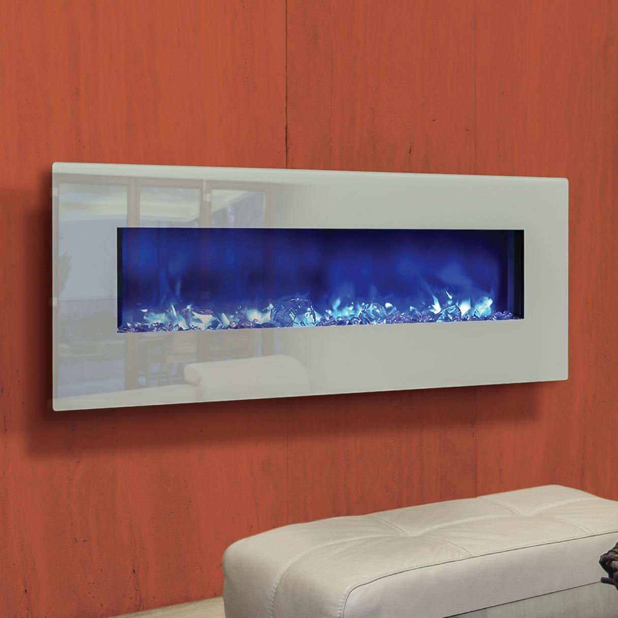 Amantii Fire & Ice Series 48-inch Wall Mount/Built-in Electric Fireplace - AMANTI 48
