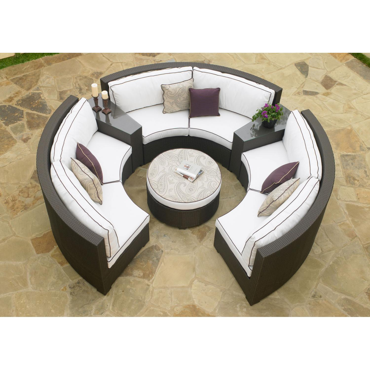 North Cape Melrose 6 Pc Chat Set W/ Ottoman