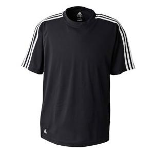 Adidas Golf Mens ClimaLite 3-Stripes Golf Tee 3XL - Black/White