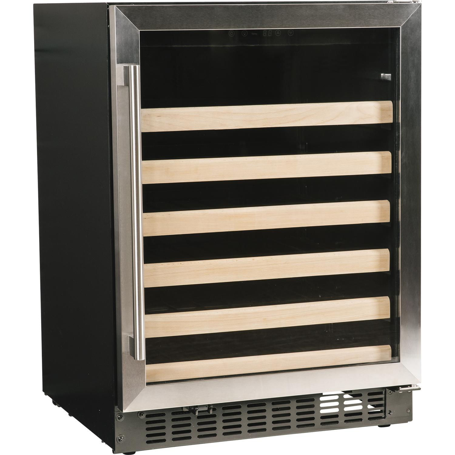 """Azure 24"""" 48 Bottle Wine Cooler - Stainless Steel - A124wc-s"""