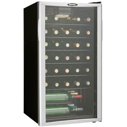 Danby DWC350BLPA 35 Bottle Freestanding Wine Cooler - Glass Door / Stainless Steel Trim