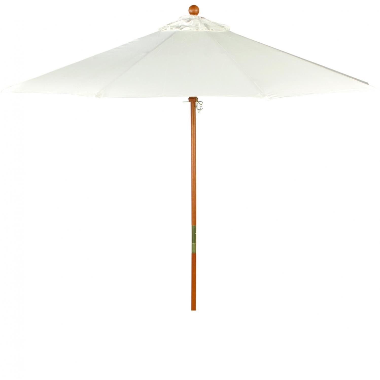 Oxford Garden 9 Ft. Octagon Wood Patio Umbrella With Pulley - Canvas Canvas 2859836
