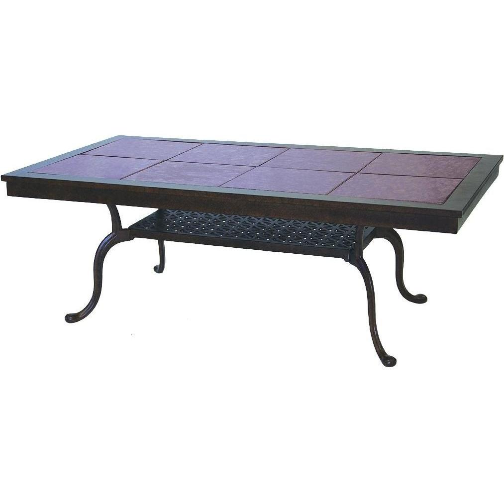 Darlee Series 77 Cast Aluminum Patio Coffee Table With Granite Top - Mocha / Ruby Granite Tile at Sears.com