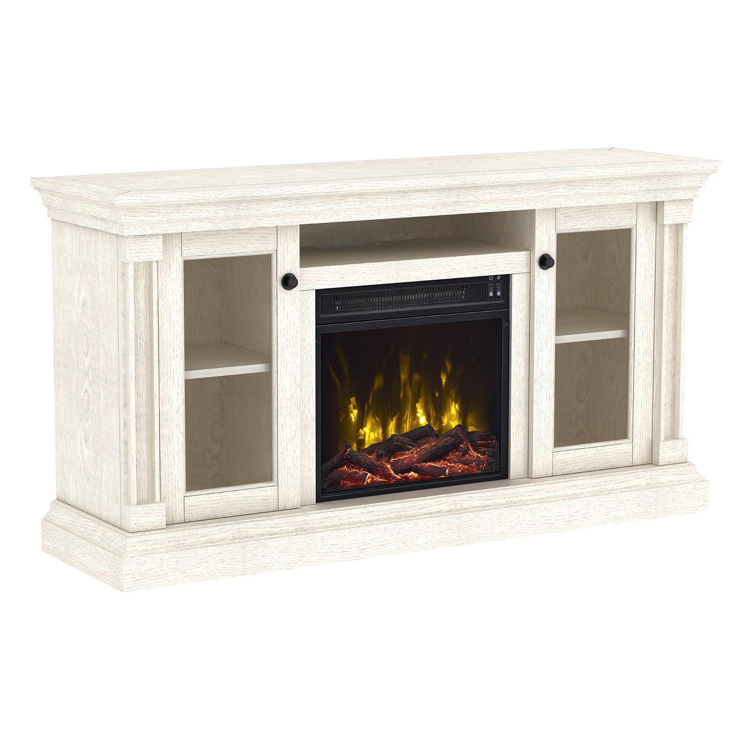 "Classicflame Foxmoor 55"" Tv Stand With Electric Fireplace - White Oak - 18mm7325-po34s"