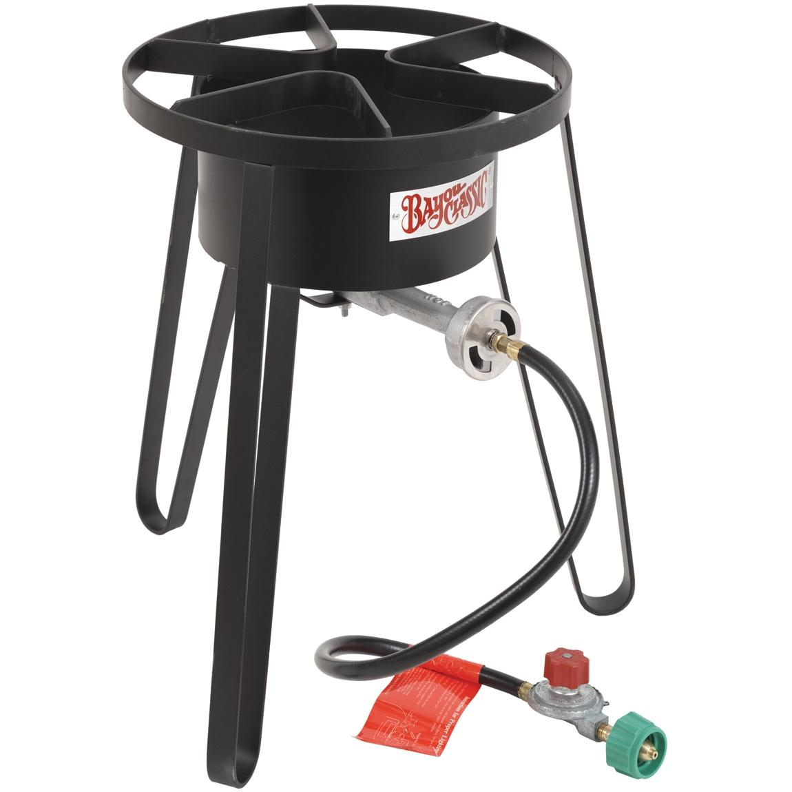 Bayou Classic Stoves With Full Windscreen On Tall Stand High Pressure Outdoor Stove