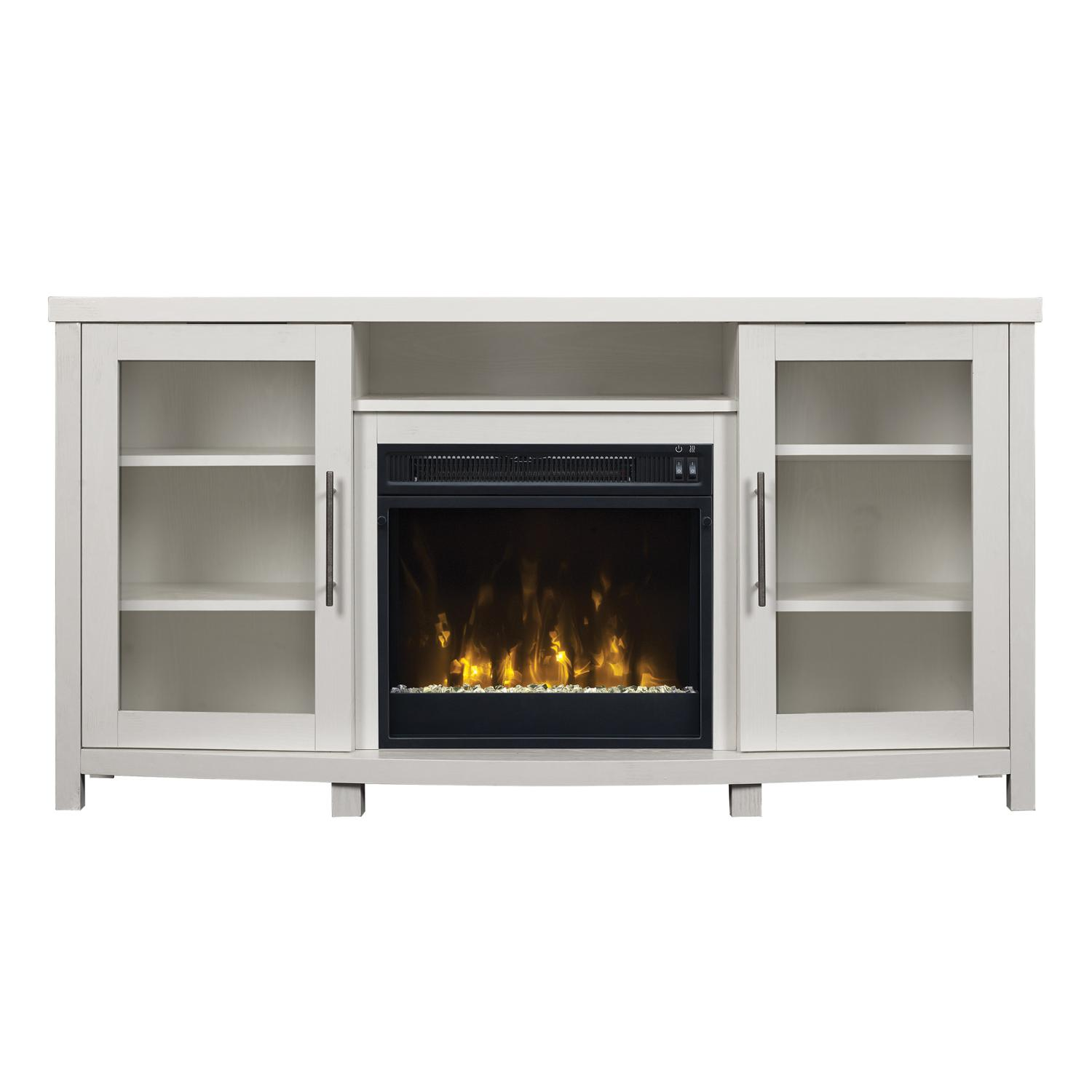 "Classicflame Rossville 54"" Tv Stand With Electric Fireplace - Pure White - 18mm6036-pt85s"