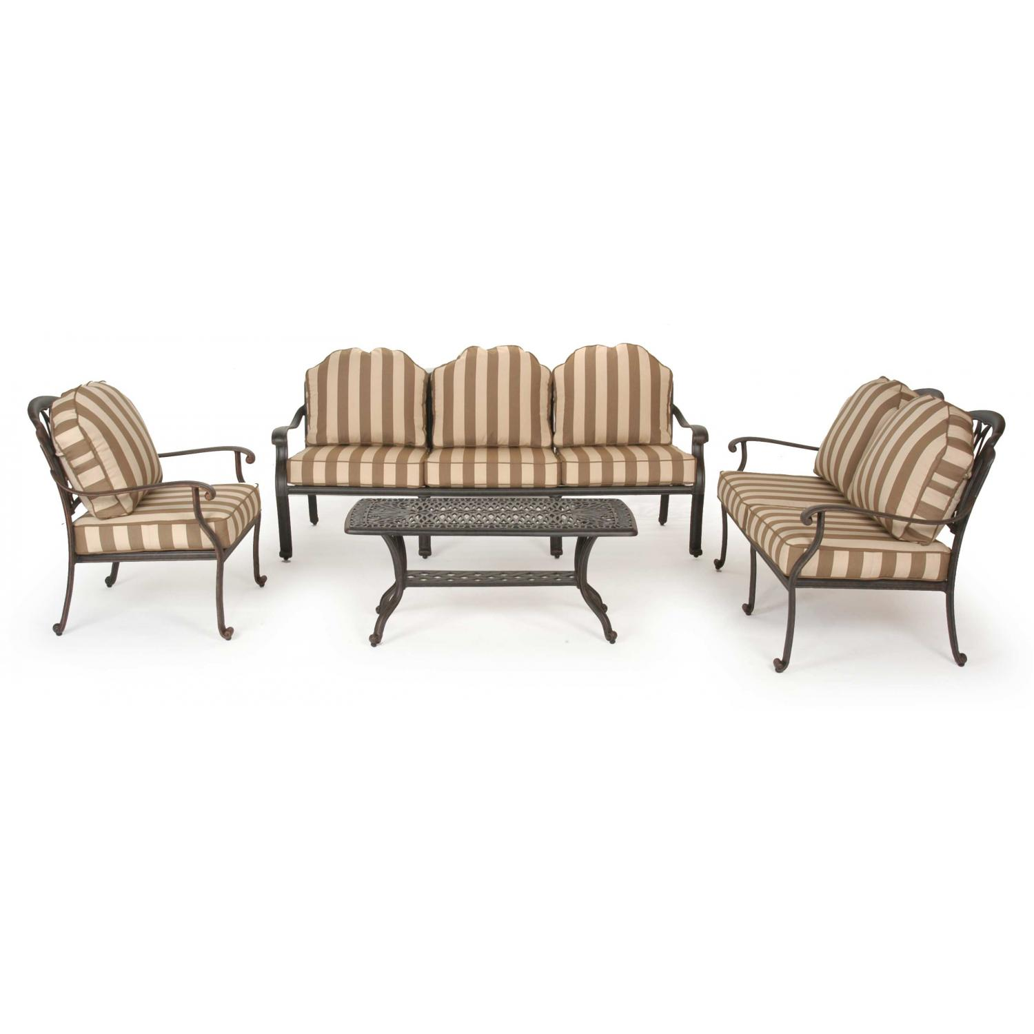 Caluco Florence Aluminum Lounge Set With Sofa