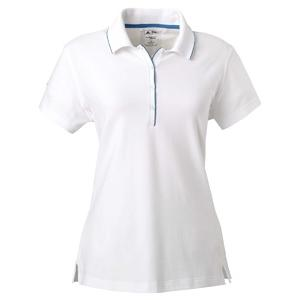 Adidas Golf Ladies ClimaLite Tour Jersey Short Sleeve Polo Shirt 2XL - White/Gulf