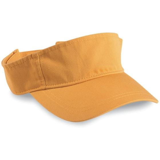 Cobra Caps Youth Garment Washed Visor - Mustard, Discount ID YVIS-W-1000