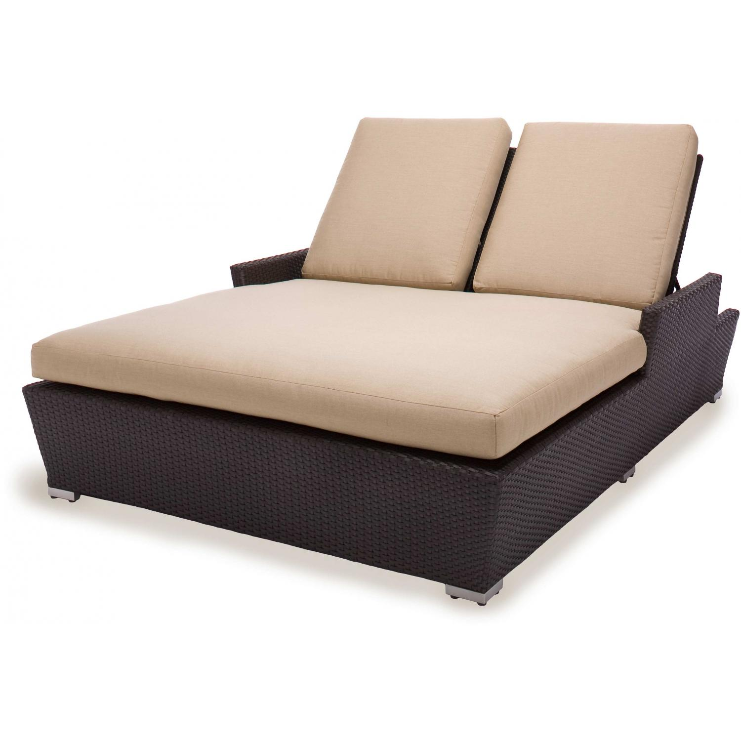 Caluco Maxime Wicker Double Chaise Lounge