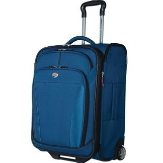 American Tourister ILite DLX 21 Inch Carry-On Rolling Luggage - Deep Blue