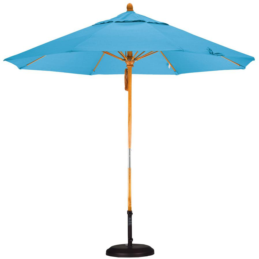 California Umbrella Octagonal 9 Ft Hardwood Patio Umbrella With Pulley Lift And Fiberglass Ribs 2909270