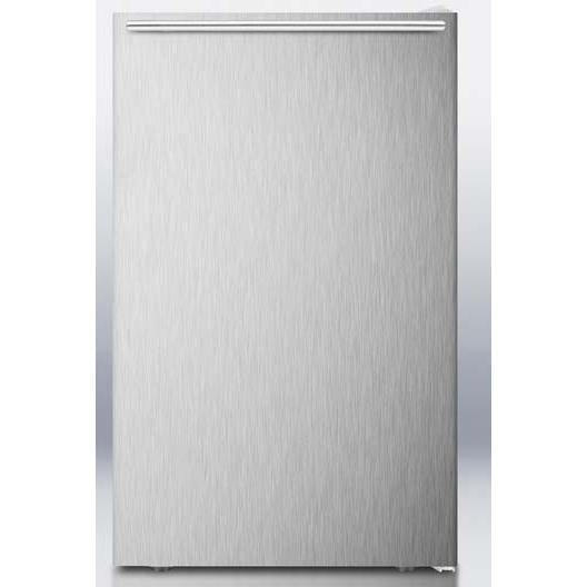 Summit FS407LXBISSHH 2.8 Cu. Ft. Capacity Built-In Or Freestanding Compact Freezer - Stainless Steel Door / White Cabinet