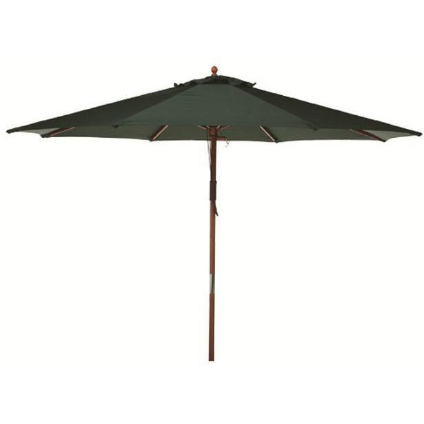 Picture of 9 Ft Wood Patio Umbrella - Green