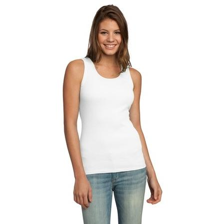District Junior Ladies 2x1 Tank Top Medium - White 2477365