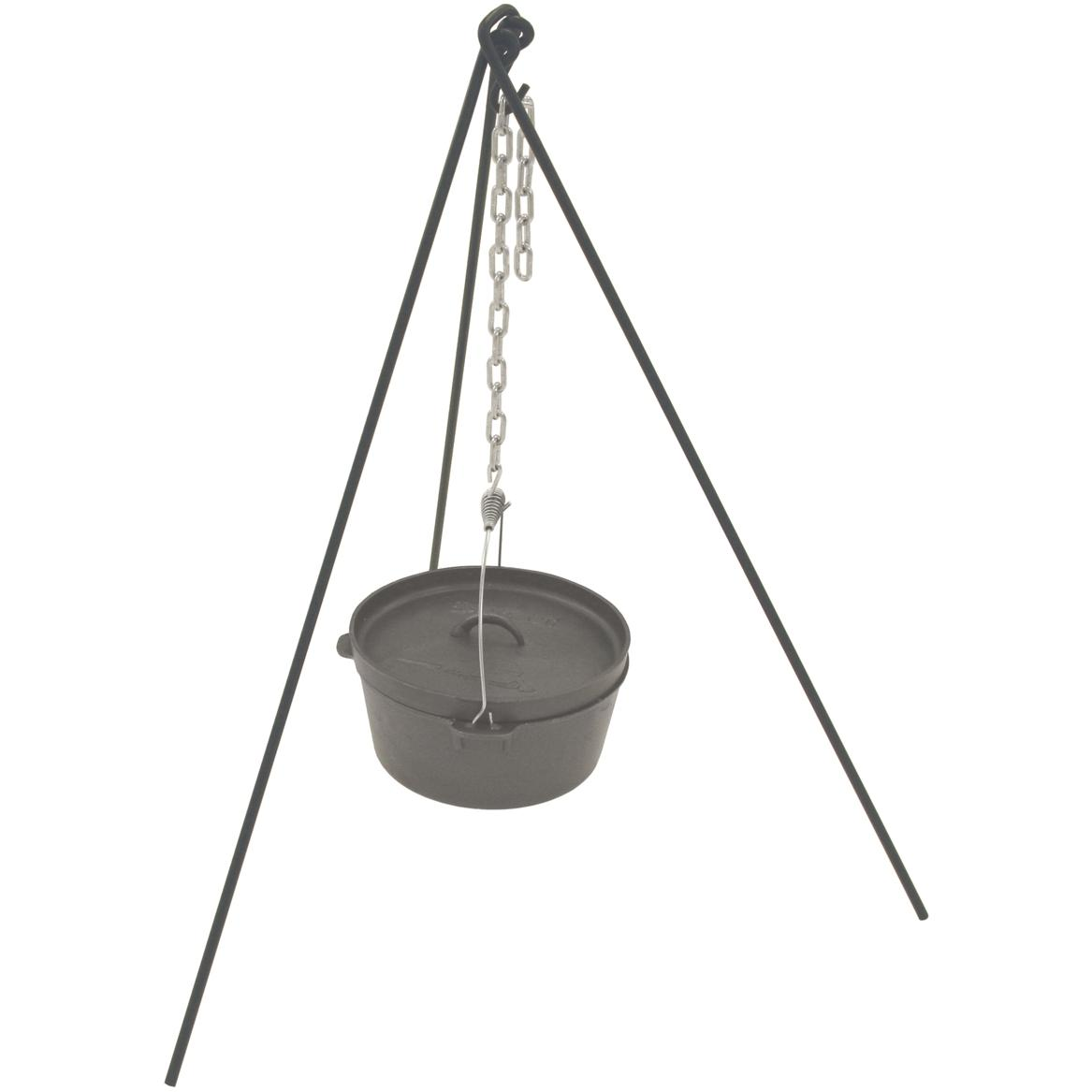 Bayou Classic Dutch Oven Tripod Stand With Chain And Bag