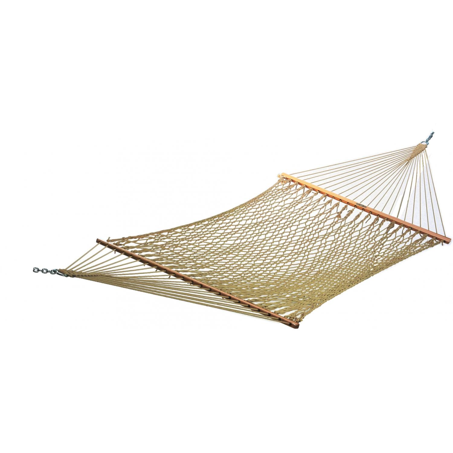 Pawleys Island 13DC Large Original DuraCord Rope Hammock - Antique Brown