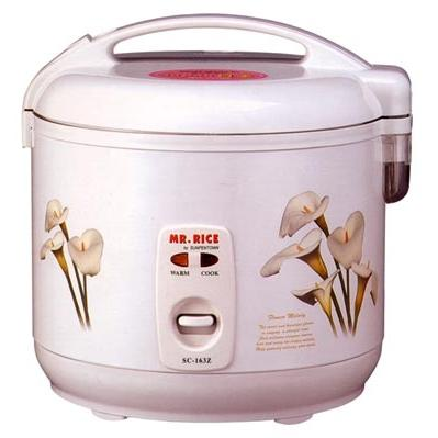 Sunpentown 6 Cups White Rice Cooker - SC-163Z