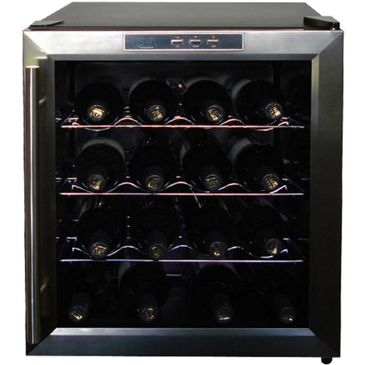 Vinotemp VT-16TEDS 16 Bottle Thermoelectric Wine Cooler - Glass Door / Stainless Steel Trim