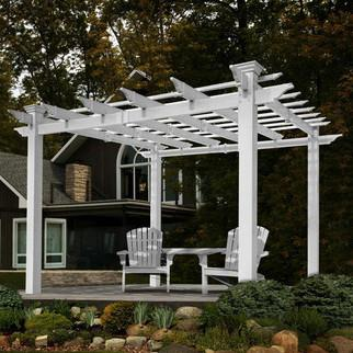 New England Arbors Mirage 8 X 8 Ft Vinyl Pergola