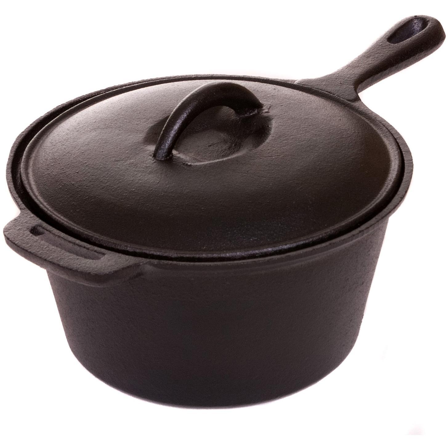 Picture of Cajun Cookware 1 1/2-Quart Seasoned Cast Iron Sauce Pot - GL10491AS
