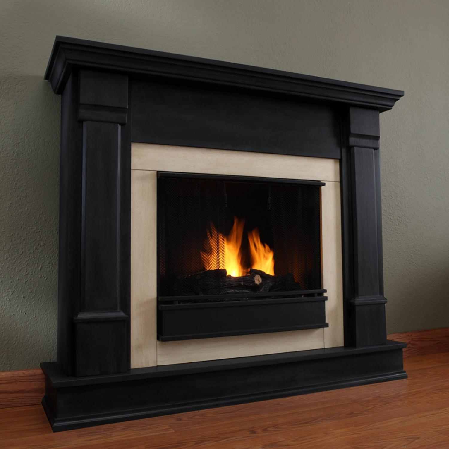 Real Flame Silverton 48-Inch Gel Fireplace - Black