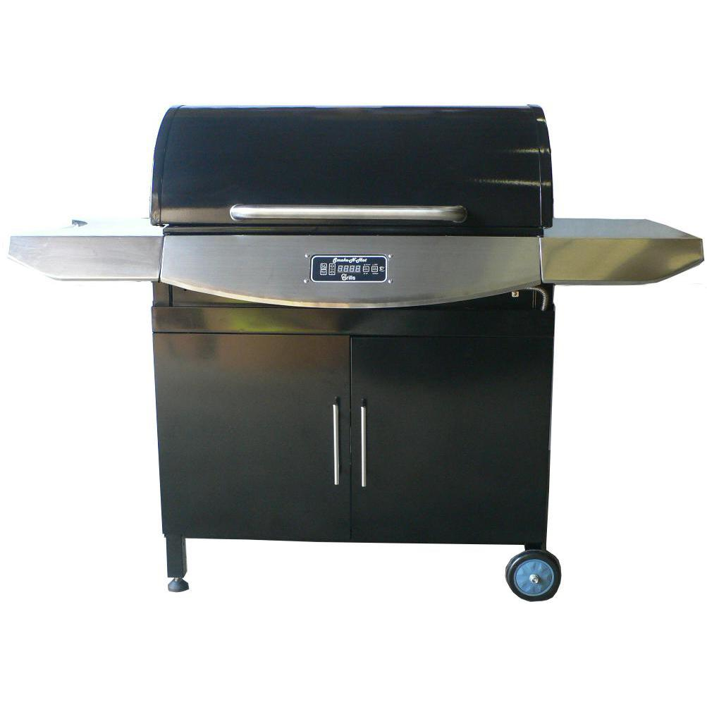 Smoke-N-Hot Supreme 32-Inch Stainless Steel Pellet Grill SNH-SUPREME2-SS 2908604