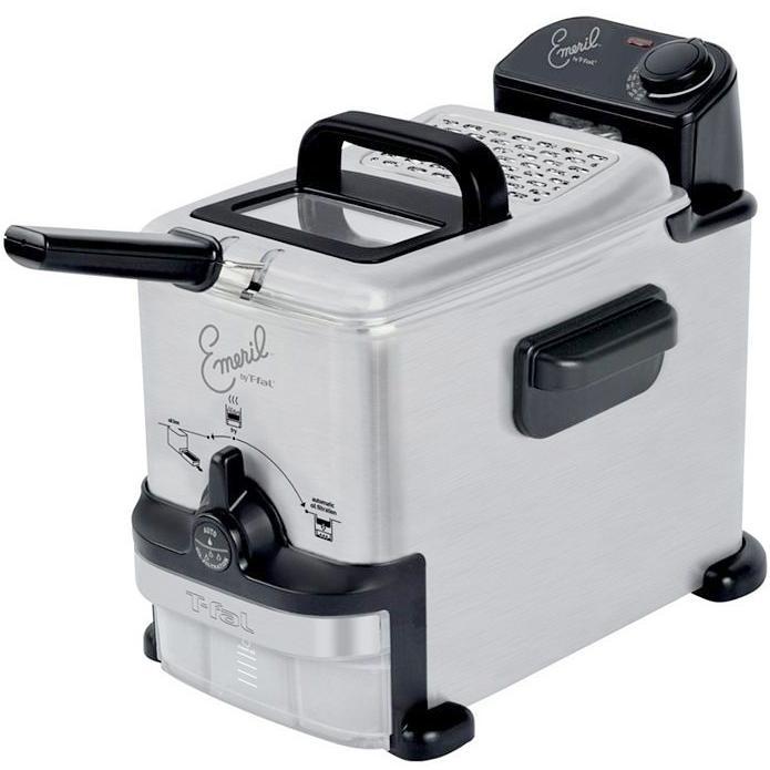 Emerilware By T-fal 1.8 Liter Stainless Steel Deep Fryer - FR702D001