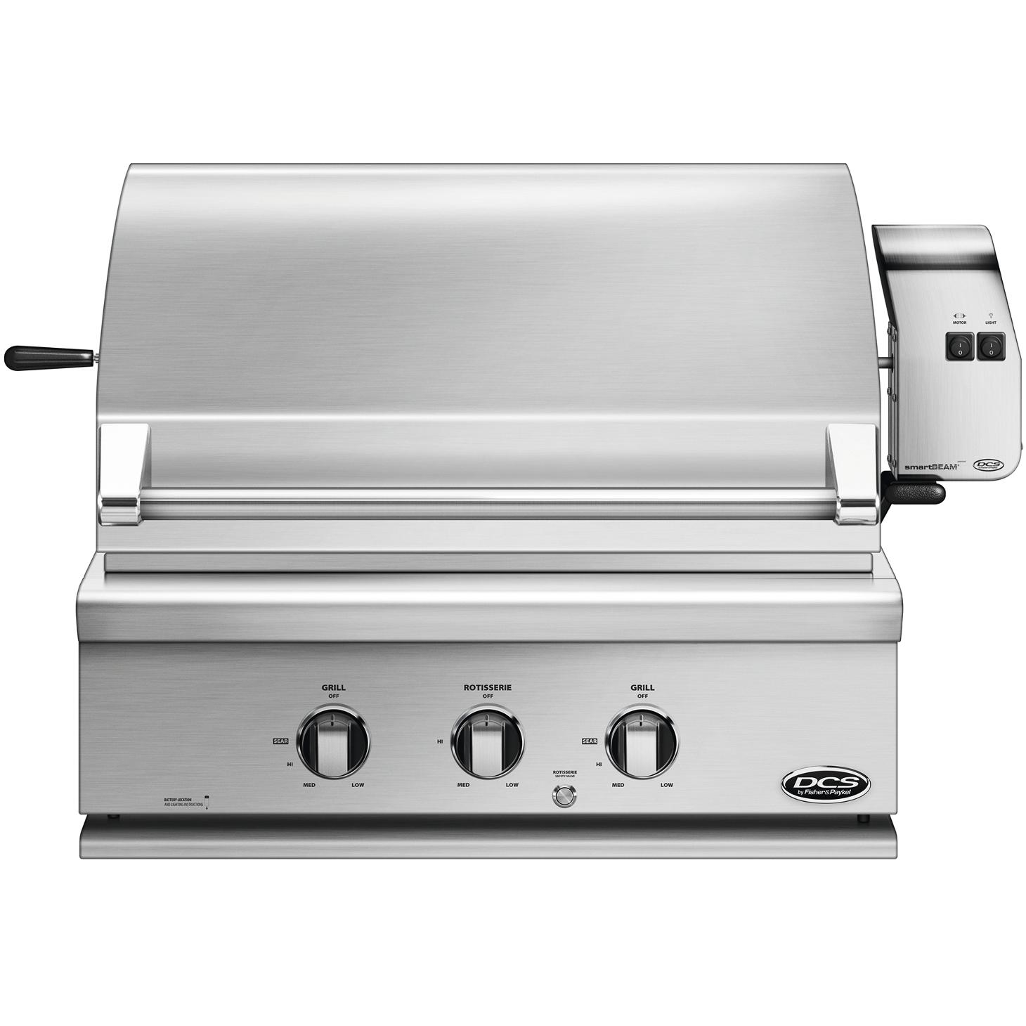 DCS 30-Inch Built-In Natural Gas Grill With Rotisserie - BGC30-BQR-N - 2015 Model 2896592