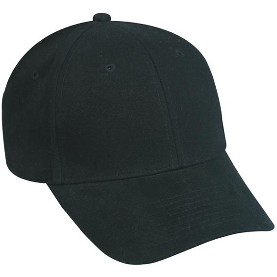 Outdoor Cap ProFlex Brushed Twill Cap M / L - Black, Discount ID PFX-600-M / L-001